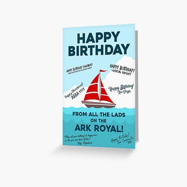 Bottom Ark Royal Funny Birthday Card Greeting Card