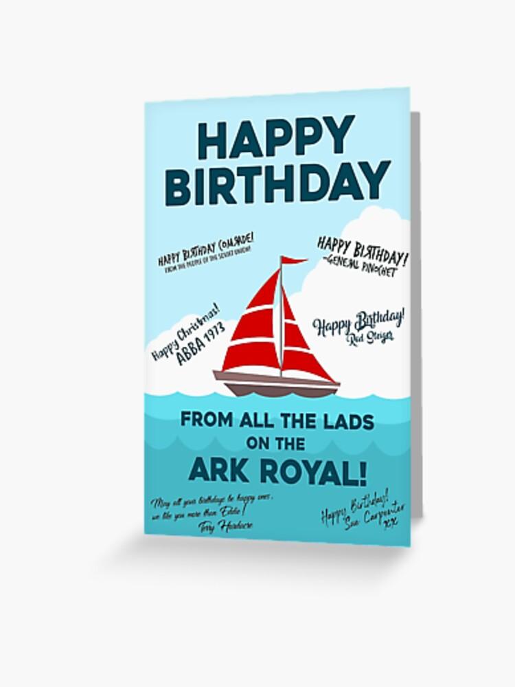 Bottom Ark Royal Funny Birthday Card Greeting Card By Davidspeed Redbubble