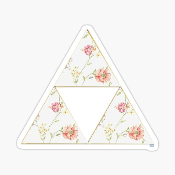 Floral Triforce Sticker