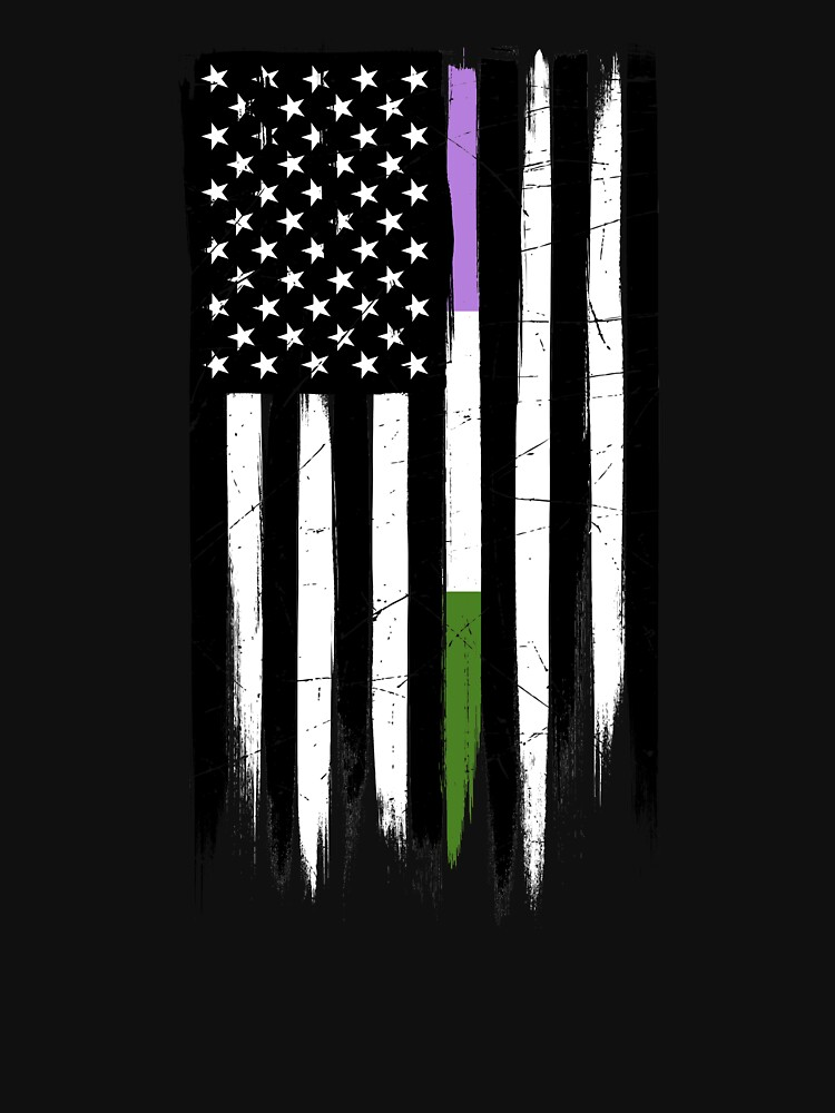 Genderqueer Thin Line American Flag by valador