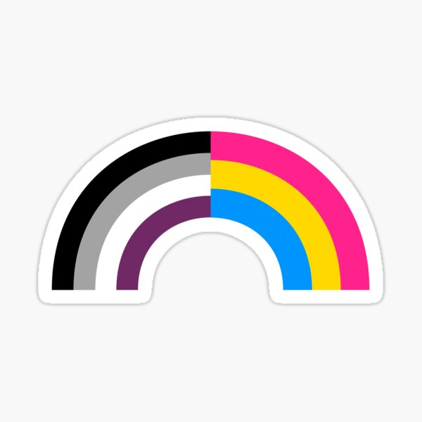 Panomatique Asexual Rainbow Sticker
