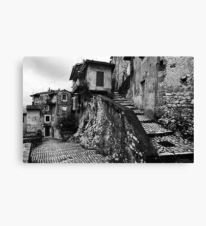 The Back Streets Of Artena Canvas Print