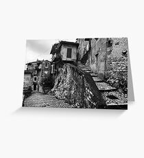 The Back Streets Of Artena Greeting Card