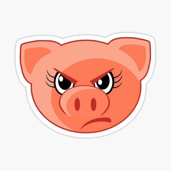 Angry Pig  Sticker