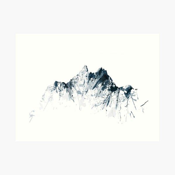 Mount Pilatus color Art Print