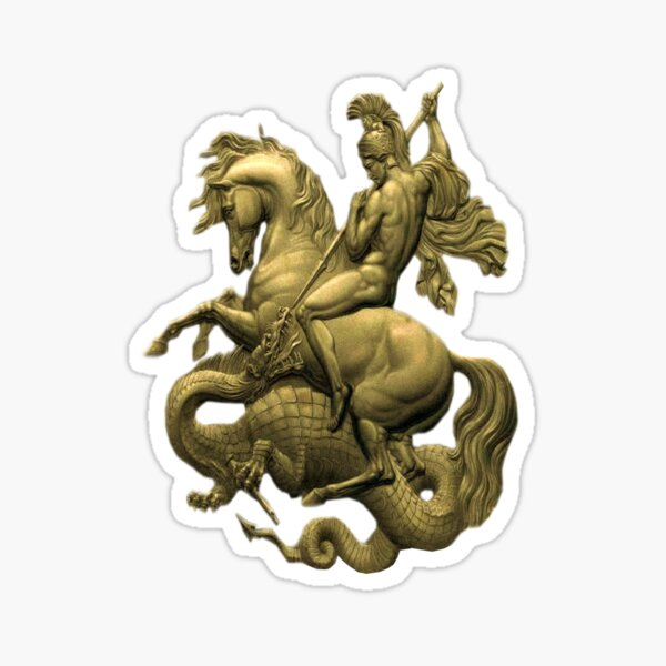 George And The Dragon Sticker