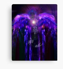 Salvador Dali in fancy dress as an Angel gets surprised by what's behind him Canvas Print