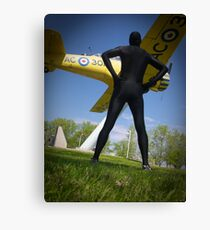 Black Airforce Way Zentai 2 Canvas Print