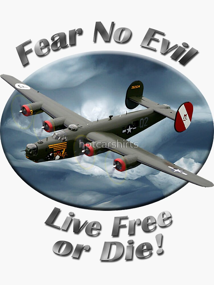 B-24 Liberator Fear No Evil by hotcarshirts