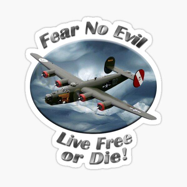 B-24 Liberator Fear No Evil Sticker