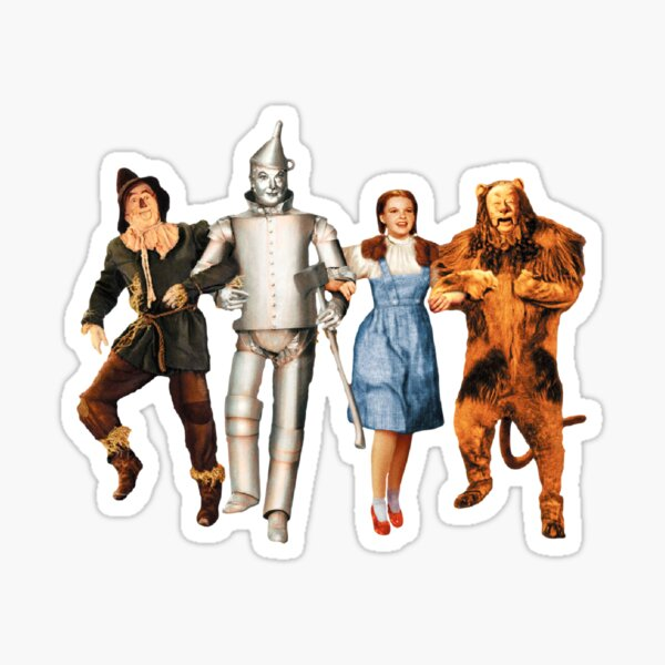 Scarecrow, Tin Man, Dorothy, and the Cowardly Lion Sticker