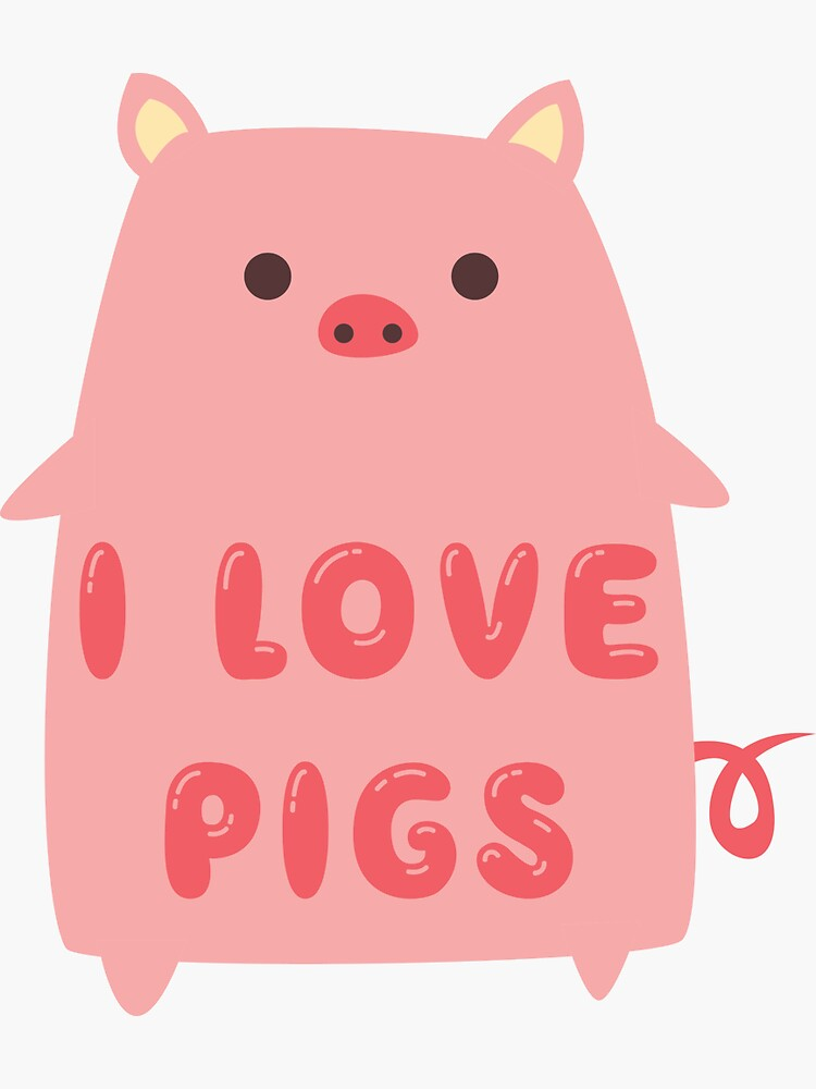 I Love Pigs Cute T Shirt by bitsnbobs
