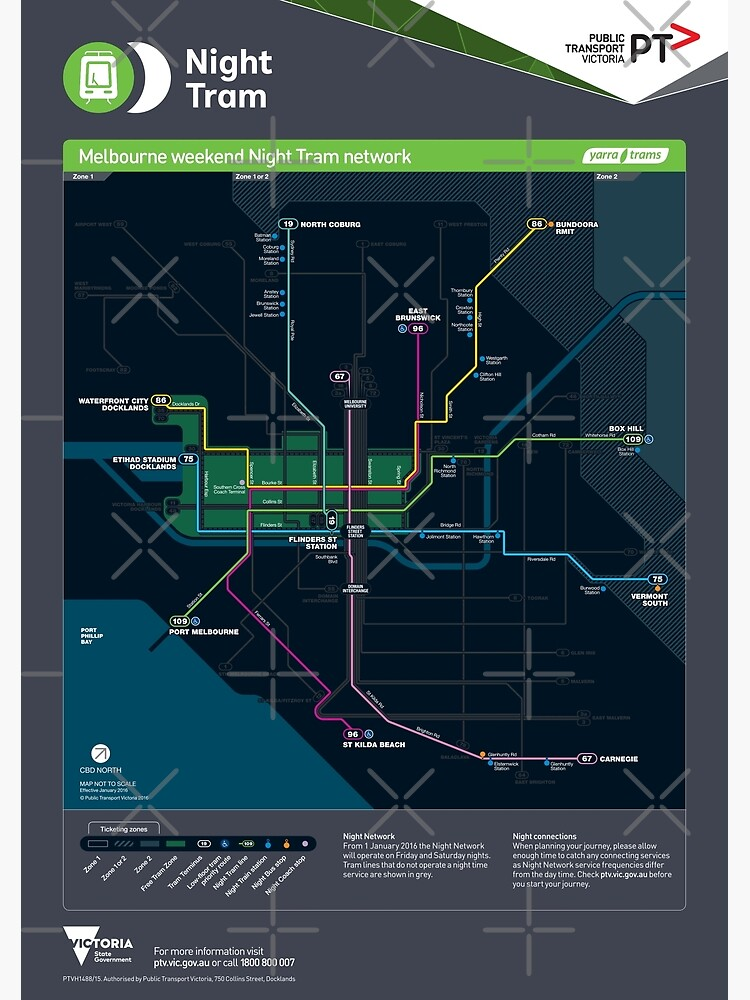 Map Of Australia Hd.Melbourne Australia Night Tram Network Map Hd Poster