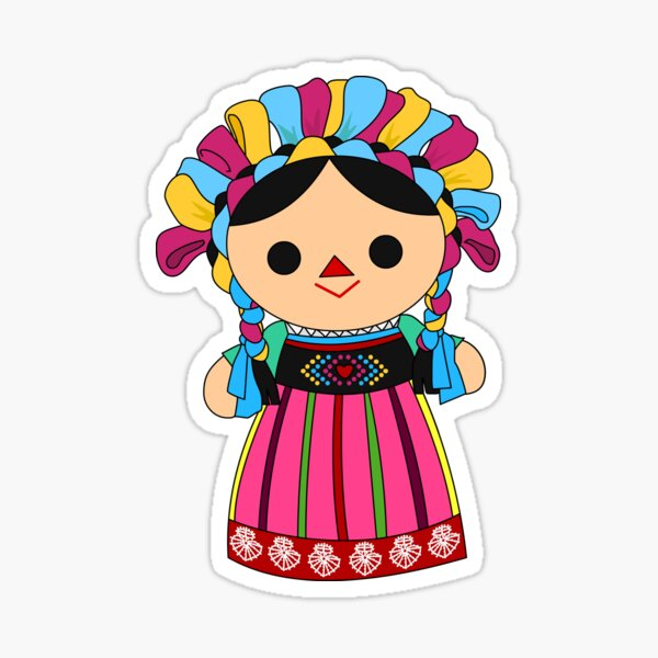 Maria 3 (Mexican Doll) Sticker