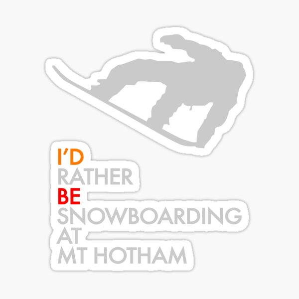 Mount Hotham Hoodies Sticker