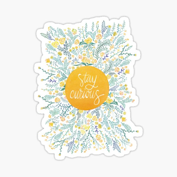 Stay Curious – Yellow & Green Sticker
