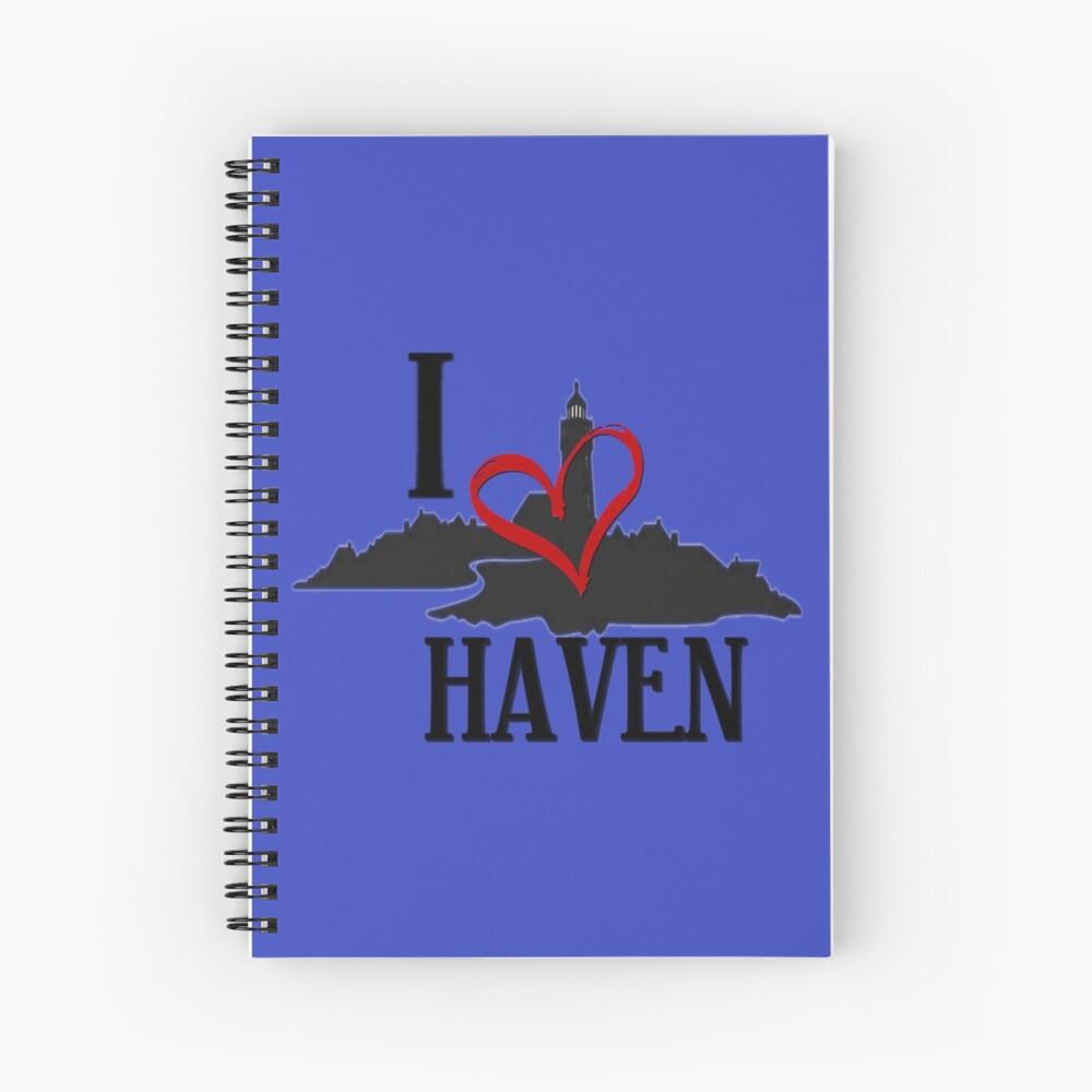 I Love Haven Black Logo Spiral Notebook