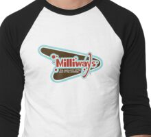 Milliways: the Restaurant at the End of the Universe Men's Baseball ¾ T-Shirt