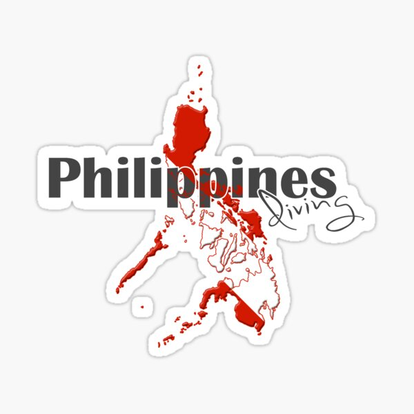 Philippines Diving Diver Flag Map Sticker