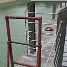 Wharf - red ladder by Marjolein Katsma
