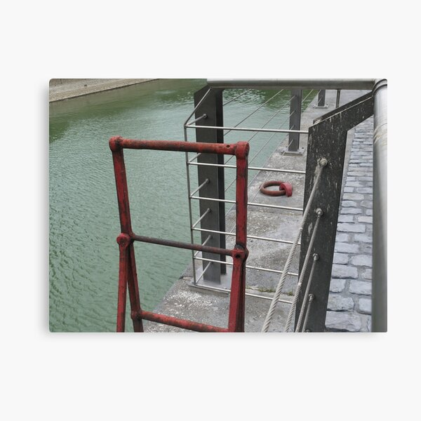 Wharf - red ladder Canvas Print