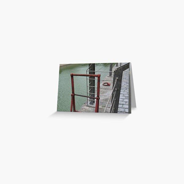 Wharf - red ladder Greeting Card