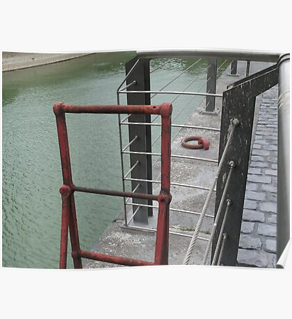Wharf - red ladder Poster