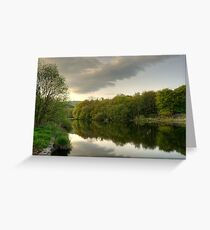 River Leven at Backbarrow Greeting Card