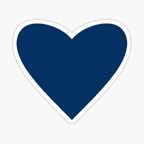 Navy Blue Heart Sticker