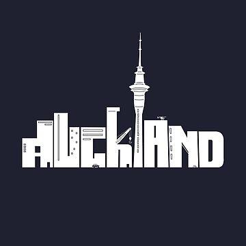 Auckland (white) by samuelballantyne