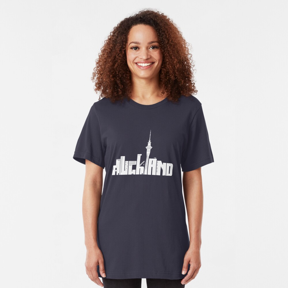 Auckland (white) Slim Fit T-Shirt