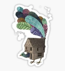 Home of peacock Sticker