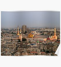 Omayyad Mosque from Above Poster