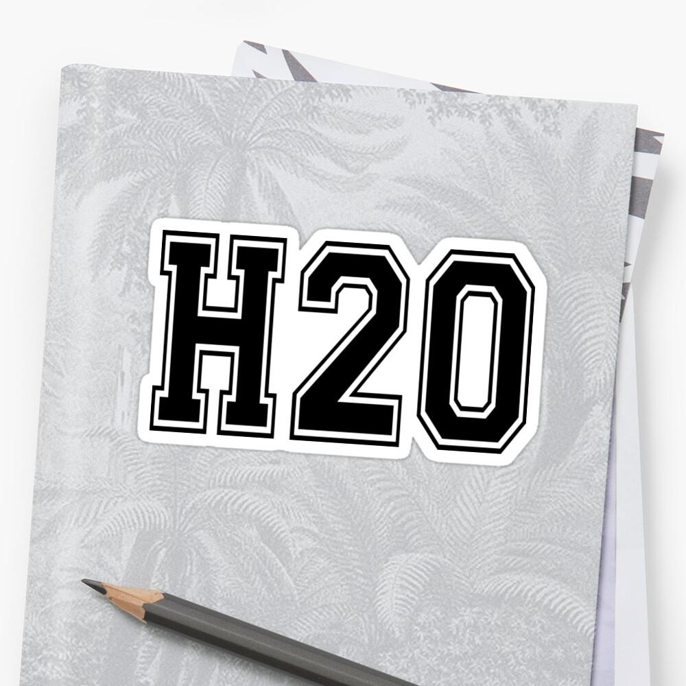 'H2O [Varsity Font]' Sticker by Tom Steinberg