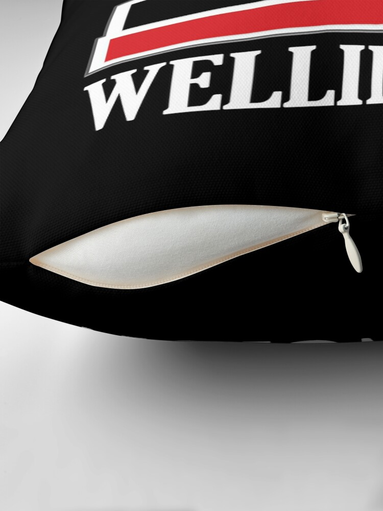 Alternate view of Wellington (white) Throw Pillow