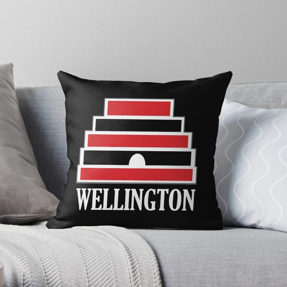 Wellington (white) Throw Pillow