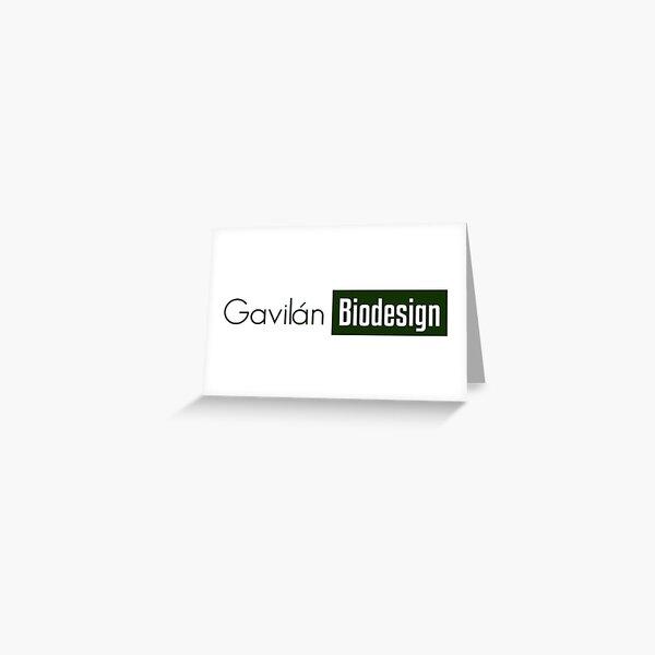 Gavilán Green, transparent biodesign Greeting Card