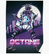 Apex Legends - Octane 80s Retro Outrun Poster Poster