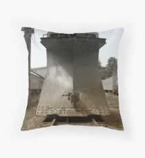 Snowplow Train Throw Pillow