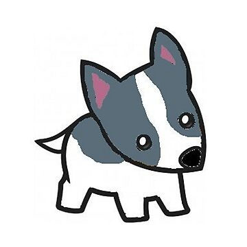 rat terrier white and blue cartoon by marasdaughter