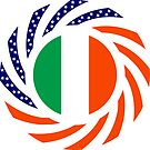 Irish American Multinational Patriot Flag Series by Carbon-Fibre Media