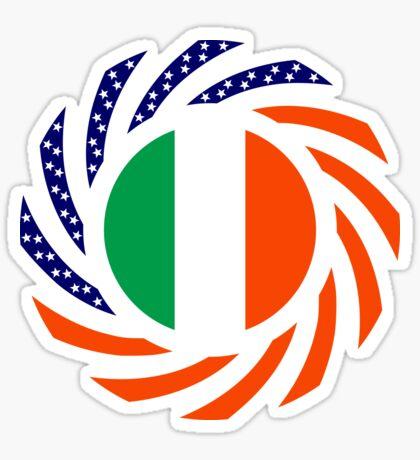 Irish American Multinational Patriot Flag Series Sticker