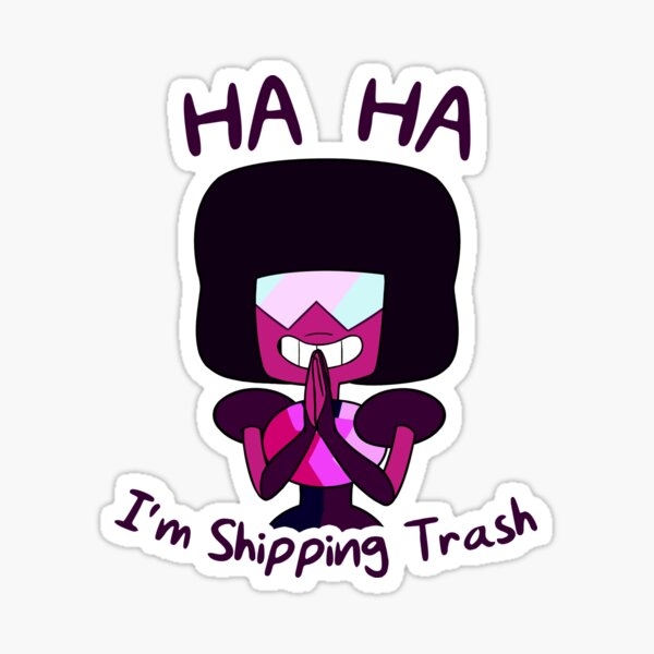 Shipping Trash Garnet Sticker