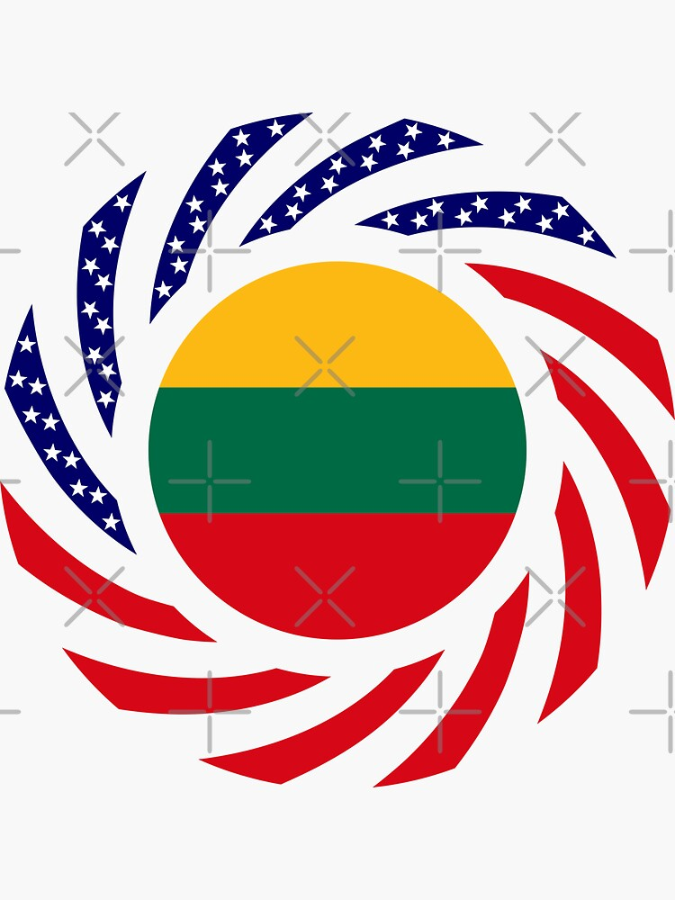 Lithuanian American Multinational Patriot Flag Series by carbonfibreme