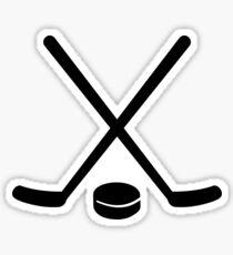 Hockey sticks puck Sticker