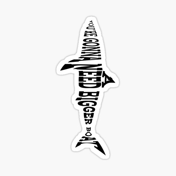 40 years of Jaws Sticker