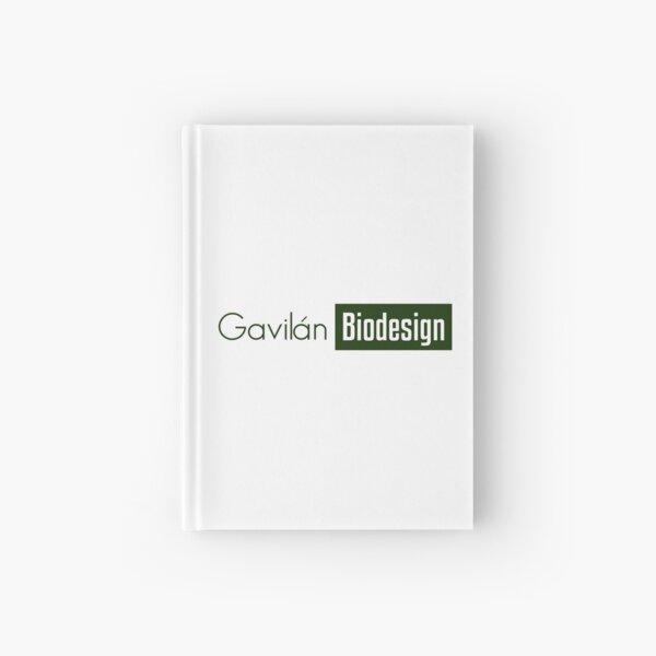 Gavilán Green, white biodesign Hardcover Journal