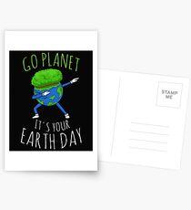 Go Planet Es ist dein Tag der Erde Postkarten