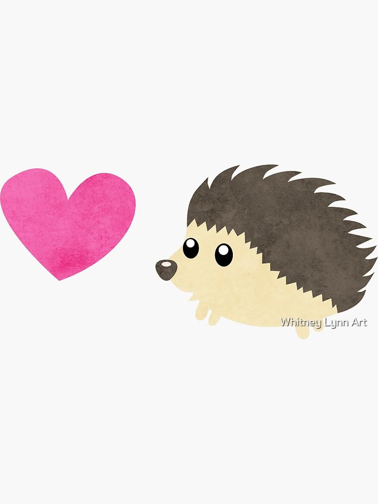 Hedgehog Love by catahstrophic