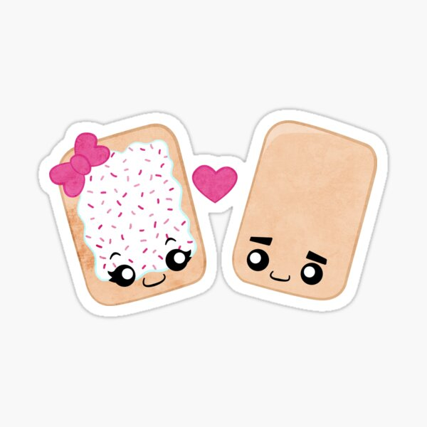 Toaster Pastry Love Sticker